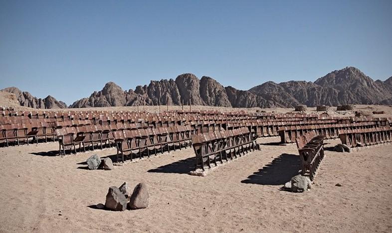 Descubren un cine al aire libre abandonado en el Sinaí